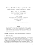 """Báo cáo toán học: """"A simple Havel–Hakimi type algorithm to realize graphical degree sequences of directed graphs"""""""