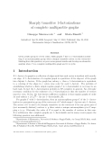 """Báo cáo toán học: """"Sharply transitive 1-factorizations of complete multipartite graphs"""""""