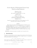 """Báo cáo toán học: """"On the Modes of Polynomials Derived from Nondecreasing Sequences"""""""