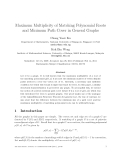 """Báo cáo toán học: """"Maximum Multiplicity of Matching Polynomial Roots and Minimum Path Cover in General Graphs"""""""