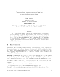 "Báo cáo toán học: ""Generating functions attached to some infinite matrices"""