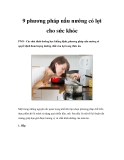 9 phương pháp nấu nướng có lợi cho sức khỏe