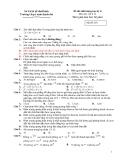 Đề thi chất lượng HK2 Lý 12