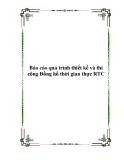 Báo cáo quá trình thiết kế và thi công Đồng hồ thời gian thực RTC