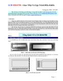 LCD HD44780 - Giao Tiếp Và Lập Trình Điều Khiển