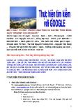 Thực hiện tìm kiếm với google
