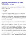 Dịch vụ miễn phí Google Sites giúp bạn lập web