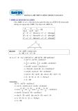 Ôn thi môn toán - Hệ thức lượng trong tam giác