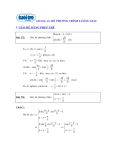 Ôn thi môn toán - Hệ phương trình lượng giác