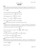 Cơ Học Lưu Chất: Bài tập chương 1