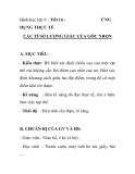 Hình học lớp 9 - Tiết 16 : DỤNG THỰC TẾ  ỨNG  CÁC TỈ SỐ LƯỢNG GIÁC CỦA GÓC NHỌN