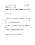 Hình học lớp 9 - Tiết 2: MỘT SỐ  VÀ ĐƯỜNG CAO TRONG TAM GIÁC VUÔNG  HỆ THỨC VỀ CẠNH