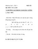 Hình học lớp 9 - Tiết 1: MỘT SỐ HỆ THỨC VỀ CẠNH    VÀ ĐƯỜNG CAO TRONG TAM GIÁC VUÔNG