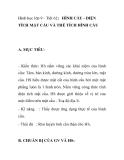 Hình học lớp 9 - Tiết 62: HÌNH CẦU - DIỆN TÍCH MẶT CẦU VÀ THỂ TÍCH HÌNH CẦU