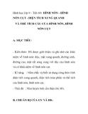 Hình học lớp 9 - Tiết 60: HÌNH NÓN - HÌNH NÓN CỤT - DIỆN TÍCH XUNG QUANH VÀ THỂ TÍCH CẦU CỦA HÌNH NÓN, HÌNH NÓN CỤT