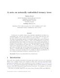 "Báo cáo toán học: ""A note on naturally embedded ternary trees"""