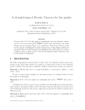 "Báo cáo toán học: ""A strengthening of Brooks' Theorem for line graphs"""