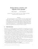 "Báo cáo toán học: "" Independence number and disjoint theta graphs"""