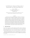 "Báo cáo toán học: ""On Multivariate Chromatic Polynomials of Hypergraphs and Hyperedge Elimination"""