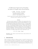 "Báo cáo toán học: ""A Differential Approach for Bounding the Index of Graphs under Perturbations"""