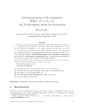 """Báo cáo toán học: """"Orthogonal arrays with parameters OA(s3, s2+s+1, s, 2) and 3-dimensional projective geometries"""""""