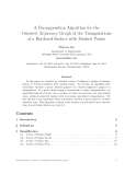"""Báo cáo toán học: """"A Decomposition Algorithm for the Oriented Adjacency Graph of the Triangulations of a Bordered Surface with Marked Point"""""""