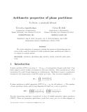 "Báo cáo toán học: ""Arithmetic properties of plane partitions"""
