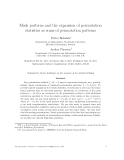 """Báo cáo toán học: """" Mesh patterns and the expansion of permutation statistics as sums of permutation patterns"""""""