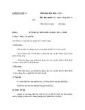 SỔ GIÁO ÁN THỰC HÀNH TRỒNG TRỌT CHĂN NUÔI -  GIÁO ÁN SỐ 11
