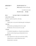 SỔ GIÁO ÁN THỰC HÀNH TRỒNG TRỌT CHĂN NUÔI -  GIÁO ÁN SỐ 13