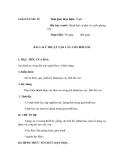 SỔ GIÁO ÁN THỰC HÀNH TRỒNG TRỌT CHĂN NUÔI -  GIÁO ÁN SỐ 15