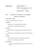 SỔ GIÁO ÁN THỰC HÀNH TRỒNG TRỌT CHĂN NUÔI -  GIÁO ÁN SỐ 18