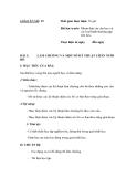 SỔ GIÁO ÁN THỰC HÀNH TRỒNG TRỌT CHĂN NUÔI -  GIÁO ÁN SỐ 19
