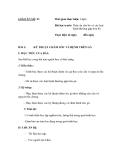 SỔ GIÁO ÁN THỰC HÀNH TRỒNG TRỌT CHĂN NUÔI -  GIÁO ÁN SỐ 21