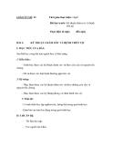 SỔ GIÁO ÁN THỰC HÀNH TRỒNG TRỌT CHĂN NUÔI -  GIÁO ÁN SỐ 22