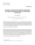 """Báo cáo khoa học: """"Evaluation of annual ring width and ring density development following fertilisation and thinning of Scots pine"""""""