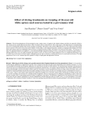"""Báo cáo khoa học: """"Effect of drying treatments on warping of 36-year-old white spruce seed sources tested in a provenance trial"""""""