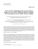 """Báo cáo khao học: """"Survival after outplanting of the ectomycorrhizal fungus Laccaria bicolor S238N inoculated on Douglas fir (Pseudotsuga menziesii (Mirb.) Franco) cuttings"""""""