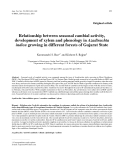 """Báo cáo khoa học: """"Relationship between seasonal cambial activity, development of xylem and phenology in Azadirachta indica growing in different forests of Gujarat State"""""""