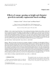 """Báo cáo khoa học: """"Effects of canopy opening on height and diameter growth in naturally regenerated beech seedlings"""""""