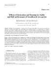 """Báo cáo khoa học: """"Effects of desiccation and freezing on vitality and field performance of broadleaved tree species"""""""