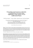 """Báo cáo khoa học: """"Forecasting wood resources on the basis of national forest inventory data. Application to Pinus pinaster Ait. in southwestern France"""""""