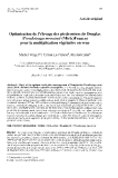 """Báo cáo khoa học: """"Optimisation de l'élevage des pieds-mères de Douglas (Pseudotsuga menziesii (Mirb.)Franco) pour la multiplication végétative en vrac"""""""