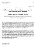 """Báo cáo khoa học: """"Effects of sodium chloride salinity on root and respiration in oak seedlings"""""""