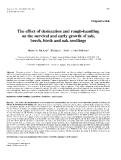 """Báo cáo toán học: """"The effect of desiccation and rough-handling on the survival and early growth of ash, beech, birch and oak seedling"""""""