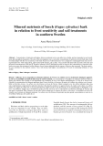 """Báo cáo khoa học: """"Mineral nutrients of beech (Fagus sylvatica) bark in relation to frost sensitivity and soil treatments in southern Sweden"""""""