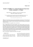 """Báo cáo khoa học: """"Genetic variability of a scattered temperate forest tree: Sorbus torminalis L. (Crantz)"""""""