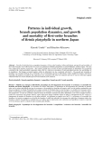 """Báo cáo khoa học: """"atterns in individual growth, branch population dynamics, and growth and mortality of first-order branches of Betula platyphylla in northern Japan"""""""