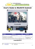 User's Guide to Mini6410 Android
