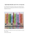 Nghệ thuật điêu khắc tuyệt vời từ... bút sáp màu